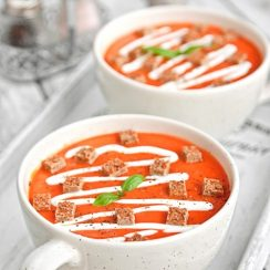 Reteta Zilei - Supa crema de ardei copti - Portii:6Timppregatire:10mTimpgatire:20mGatain:30m